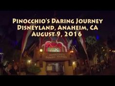 Pinnochio's Daring Journey POV Low Light Camera Disneyland