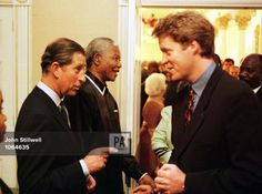 Nov 4, 1997--The Prince of Wales (left) and the Princess of Wales's brother, Earl Spencer, shake hands, following a banquet held in Cape Town , tonight (Tuesday) where the Prince praised the charity work of his ex-wife Diana and spoke of her tragic and untimely death.