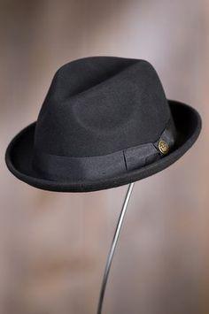 A dashing design for its premium craftsmanship and elegant simplicity, the Good Boy Fedora adds an impressive finish. Mens Dress Hats, Gentleman Hat, Dope Hats, Mad Hatter Hats, Kentucky Derby Hats, Fedora Hat, Beret, Hats Online, Hats For Men