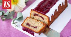 Jos runebergintortut on jo testattu, tämä maukas kakku sopii täydellisesti perjantaina vietettävään Runebergin päivään. Banana Bread, Desserts, Candy, Baking, Sweet, Food, Ideas, Tailgate Desserts, Deserts