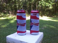 Budweiser 25oz Beer Koozies Can Cooler Coozie - New - 2 Pack - Free Shipping