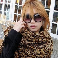 K-0001 lengthen leopard print scarf faux leopard print scarf advanced faux tassel cape scarf $6.60
