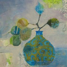 Still Life with Lunaria by judy thorley