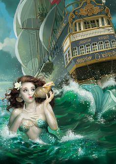 mermaid: somethings up, just look at her eyes