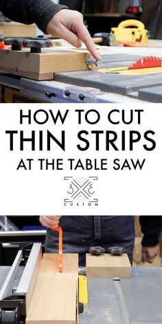 Custom Thin Ripping Jig, super easy jig to safely make thin cuts at the table saw. jigs table saw Thin Ripping Jig — Custom