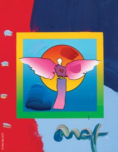 """""""I never know what I'm going to put on the canvas. The canvas paints itself. I'm just the middleman."""" amazing quote from artist Peter Max - Park West Gallery"""
