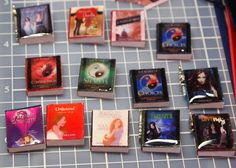 Custom Mini Book Charm. $2.00, via Etsy.