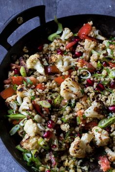 Roasted Cauliflower Tabbouleh | A heart warm salad perfect for the middle of winter. Ready in 25 min. | www.wildeorchard.co.uk