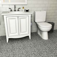 SomerTile 11.25 x 11.75-inch Asteroid Penny Round Luna Porcelain Mosaic Floor and Wall Tile (Pack of