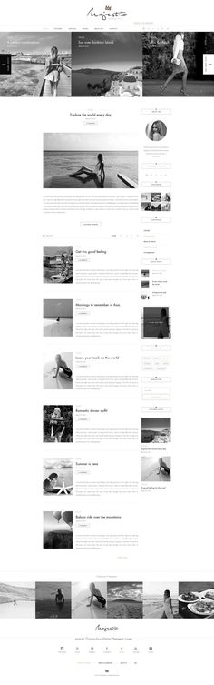 Majestic is a Premium Personal Blog that helps you portrait your stories to the world. The black and white, smooth design will emphasis your adventures and will make your readers love your blog.