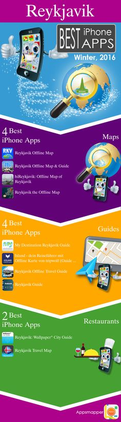 Reykjavik iPhone apps: Travel Guides, Maps, Transportation, Biking, Museums, Parking, Sport and apps for Students.