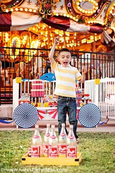 circus party ideas | Circus Train Big Top Carnival Birthday Party