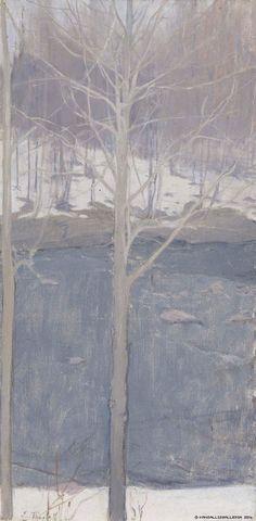 Aspens, 1893 Ellen Thesleff Finnish, Oil on canvas Ateneum Art Museum Winter Landscape, Landscape Art, Landscape Paintings, Nordic Art, Scandinavian Art, Winter Painting, Painting Art, Aspen Trees, Tree Art