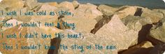 """""""Cold As Stone"""" - Lady Antebellum...Love this song! Beautiful & sad at the same time"""