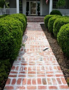 like this brick walkway...would work at Linda's...???all the way to circle???
