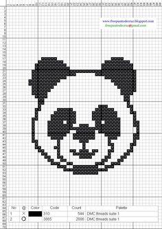 osos pandas en punto de cruz - Buscar con Google