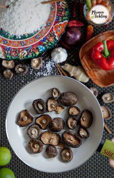 Shiitake Pilze für unsere Gyozofüllung