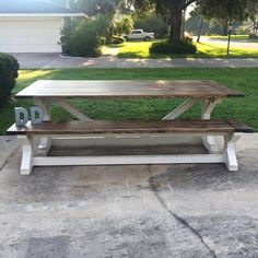 8ft X Farmhouse Table by DanowitDesigns on Etsy