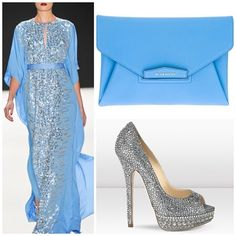 Style Inspiration by Dubai Fashionista, Kaftan by Naeem Khan, Givenchy clutch and Jimmy Choo