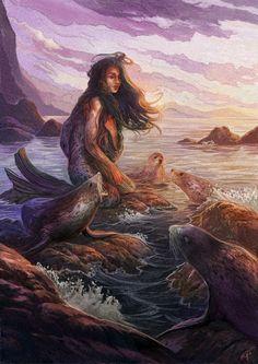 The Selkie - Rebekah Tisch / Illustration