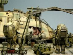 "P.K.H. 103 ""Nutcracker"" Maschinen Krieger - Flying Tank 1/35 Scale Model Diorama"