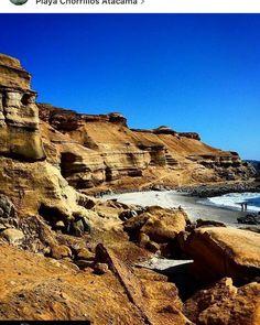 Playa Chorrillos Atacama Chile!!
