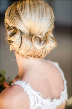 Updo wedding hair ideas @weddingchicks
