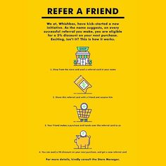 Refer-A-Friend! Visit us and say hello! We're a really nice bunch of people! . Address in the Bio! . . . . #whishbox #whishwhish #art #artist #design #designer #store #stationeryaddict #stationary #homedecor #decor #barware #fashion #apparels #product #products #yellow #yellowmovement #infographic #brand #branding #loyalty #program #benefits #incentive