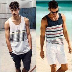 ec8296e2b5092 Camiseta-regata-masculina-com-listras-na-horizontal