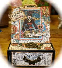 Graphic 45 Steampunk Spells Easel Box Card