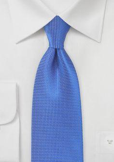 Krawatte einfarbig Struktur ultramarin