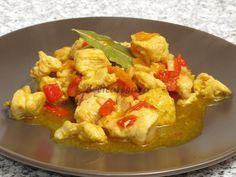 Piept de pui în stil indian Asian Recipes, Ethnic Recipes, Thai Red Curry, Potato Salad, Cauliflower, Shrimp, Deserts, Cooking Recipes, Potatoes