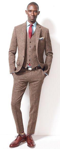 tweed three piece