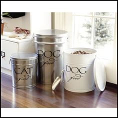 I have had my eye on these Ballard dog food tins for a long time now!    Sorry, but I am not willing to pay $50 for a dog food container!!  ...