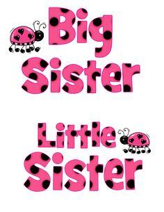 Big Sister Little Sister Digital File Great by CelebrationzbyMel, $2.95