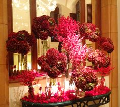 A bold red floral display bursts with berries and life at Bryant Dewey Seasons Hotel Istanbul at Sultanahmet. Unique Flowers, Diy Flowers, Flower Decorations, Wedding Decorations, Floral Centerpieces, Floral Arrangements, Jeff Leatham, Hotel Flowers, Corporate Flowers