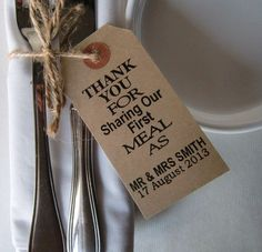 Rustic wedding napkin holders