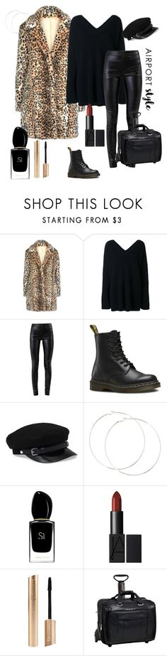 """""""Airportstyle"""" by daisy-schilder ❤ liked on Polyvore featuring STELLA McCARTNEY, Helmut Lang, Dr. Martens, Giorgio Armani, McKleinUSA and airportstyle"""