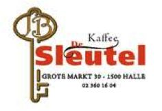 Kaffee De Sleutel - Aan de Grote Markt van Halle vind je één van de succesvolste cafés van Halle en je kan er bovendien lambiek drinken uit een authentiek glas.