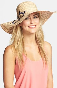 Jonathan Adler Embroidered Wheel Floppy Hat available at #Nordstrom
