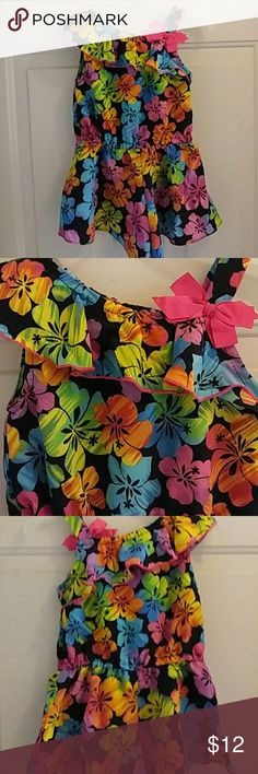 Floral Romper Bright and colorful...elastic waist...so cute! Youngland Other