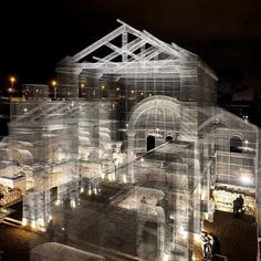 on the site of an ancient christian church italian artist edoardo tresoldi has resurrected archeological remains in #puglia using wire mesh. @edoardotresoldi  by @blindeyefactory   see more about the installation on #designboom.com/art #edoardotresoldi by designboom