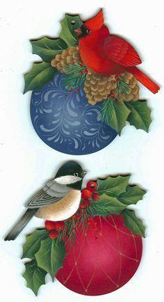 christmas bird ornaments