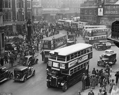 Victoria station, May 1938 - photo by H. Davis old London London Bus, London Bridge, London Life, Blitz London, Vintage London, Old London, East London, London In August, London Architecture