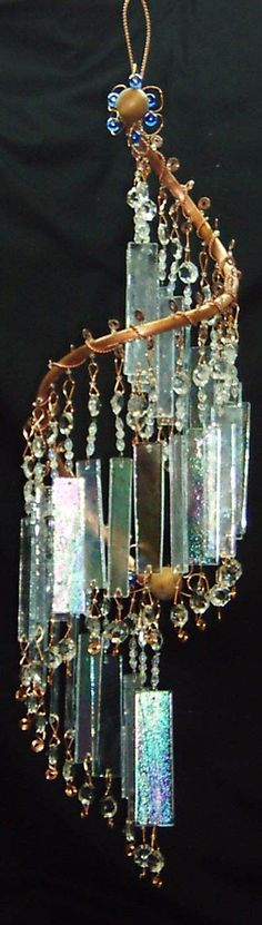 "sandy More glass wind chime ""Enchanted"""