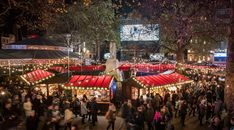Christmas market of first romantic attraction