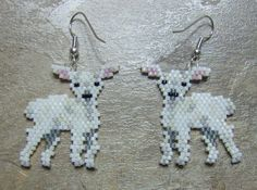 Hand Made Seed Beaded Brick Stitch Little Lamb by wolflady on Etsy.