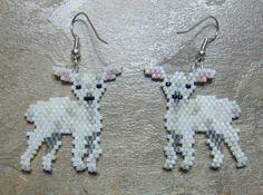 Lamb earrings