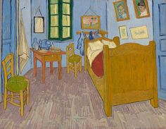 Vincent van Gogh - The Bedroom in Arles, 3rd version, 1889