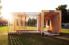 Pabellón de verano con madera laminada|Espacios en madera